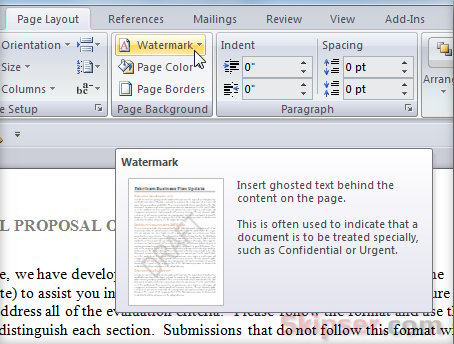 How to Watermark Your Word Documents