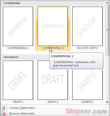 how to add confidential watermark in pdf