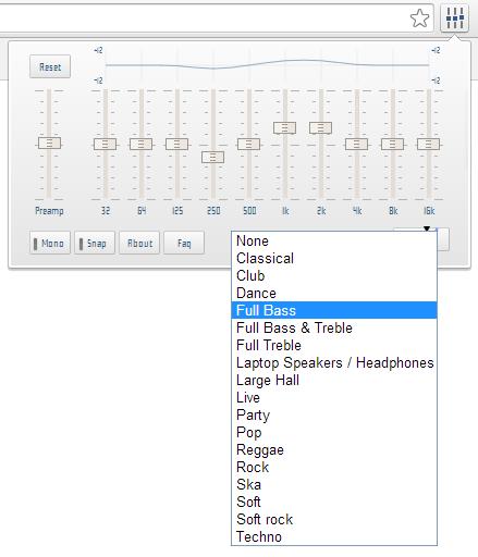 Youtube audio equalizer