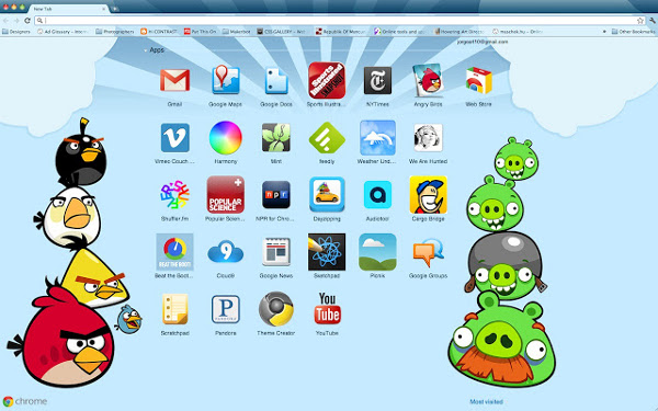 The Top Best Google Chrome Themes For 2013