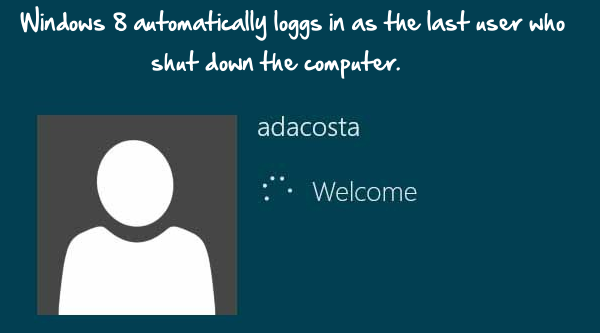 disable windows 8 auto login