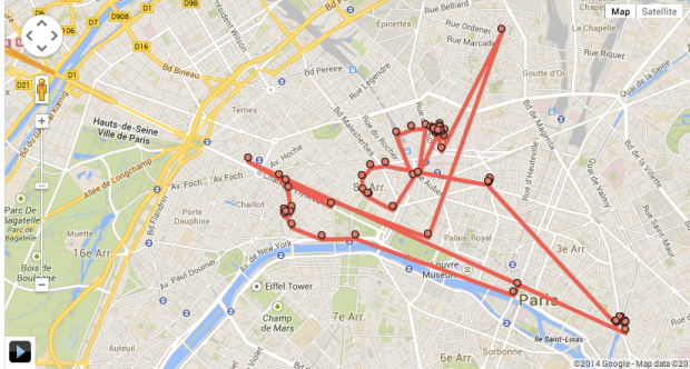 google maps location tracking