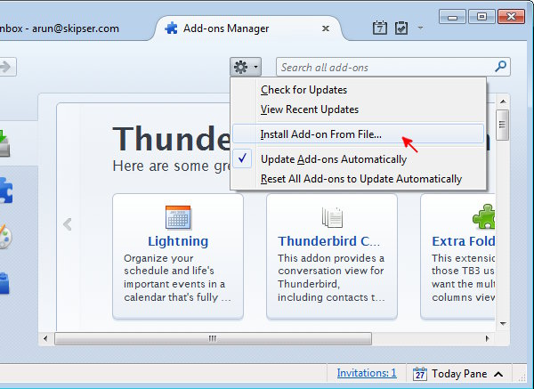How To - Install Addons or Extensions in Thunderbird - Short