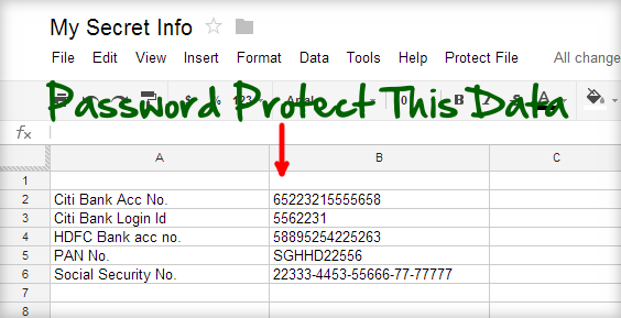 Password protect google document