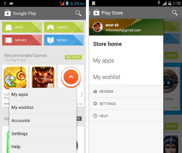 Re-install android apps