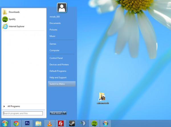 startmenu8 windows 8 start button