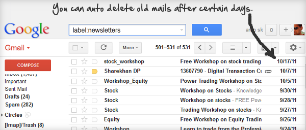 How to Auto Delete Old Emails In Any Gmail Label