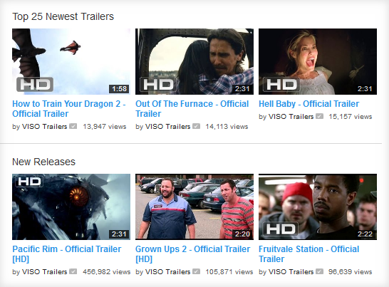 Youtube hollywood movie trailers