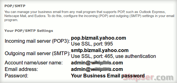 Configure IMAP Mail For Yahoo Small Business
